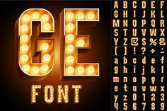 Realistic lamp board alphabet - Objects - 1