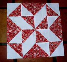 Quilt Around The World Christmas. Image only; all the blocks are made up of half-square triangles.