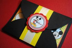 MICKEY MOUSE gate fold invitations by ThreeKidsPartyShop on Etsy, $30.00