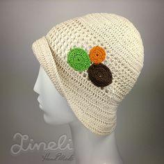 Handmade Crochet Summer Hat  Cotton Crochet Hat  by LineliHandmade, €29.00