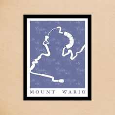 PiDesignPrints on Etsy: Mario Kart 8 Mount Wario Race Track Map Poster | Super Mario Kart Map Print | Video Game World Map Art | Block Print Style | Video Game Art (10.00 USD)