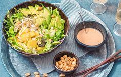 Poke Bowl, Vegan Recipes Easy, I Love Food, Cantaloupe, Cabbage, Menu, Asian, Dishes, Fruit