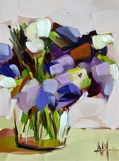 """Purple Lisianthus in Jar"" by Angela Moulton"