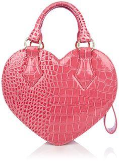 Vivienne Westwood pink heart handbag