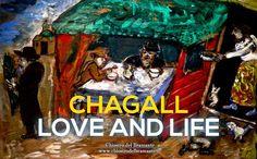 1912 // I simboli grafici ebraici evocano scene familiari, alla quale il colore fornisce nel contempo un carattere di visione. Nella sua alternanza, fra distacco e contiguità, fra vita quotidiana e caratteri esotici, esso è espressione di nostalgia.  - #ChagallRoma #LoveAndLife -