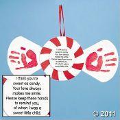 Handprint Peppermint Keepsake craft. Love it