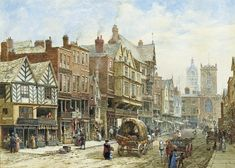 Victorian City | Bridge Street, Chester, with St. Peter's Church and Chester Town Hall ...