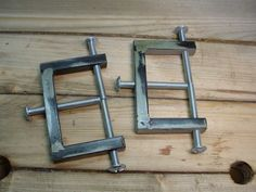 """Luthier Clamps by Christophe Mineau -- Still in the luthier clamps series, the """"E"""" clamp, which is actually a special clamp used to press something on an edge . Here it is in use, gluing a bone piece on a point of a bluegrass mandolin..."""