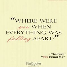 The Fray ~~You Found Meu003done Of My Favorite Songs.