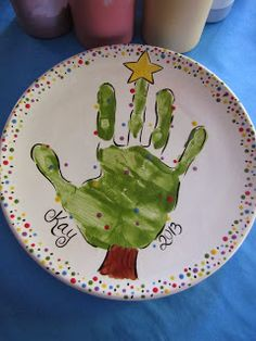 I would love to take all 3 of the kids down and do something with their hand prints on a plate!