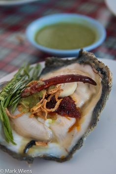 Sompong Seafood Restaurant (ร้านสมพงศ์) in Samut Prakan (check out this oyster!) http://www.eatingthaifood.com/2014/06/sompong-seafood-%E0%B8%A3%E0%B9%89%E0%B8%B2%E0%B8%99%E0%B8%AA%E0%B8%A1%E0%B8%9E%E0%B8%87%E0%B8%A8%E0%B9%8C/