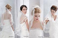 Brautschleier mit Spitze