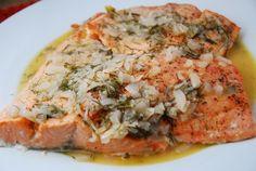 Broiled Salmon in Wine Dijon Sauce – 6 Points + - LaaLoosh