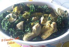 Carciofi e spinaci all'aglio