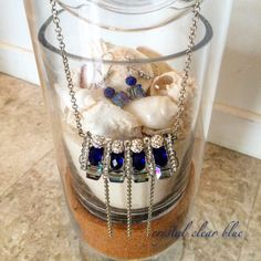Jewelry set - crystal clear blue