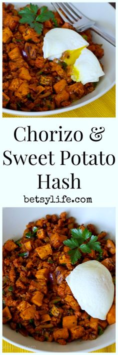 Love a one pot meal? Hash is my jam. This Chorizo and Sweet Potato Hash recipe is the easiest option for dinner. Just add eggs!