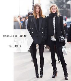 These items are great *IF* you are tall and thin.  Otherwise, shorter boots, less volume in the jacket.
