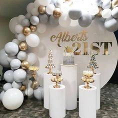 Source Wedding Backdrop circle round white wedding arch metal for weddin. - Source Wedding Backdrop circle round white wedding arch metal for wedding decoration stage - White Party Decorations, 21st Birthday Decorations, Balloon Decorations, Baby Shower Decorations, Wedding Decorations, Balloon Garland, Elegant Birthday Party, 40th Birthday Parties, Birthday Balloons