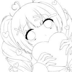 Anime Drawings Sketches, Anime Sketch, Kawaii Drawings, Cartoon Drawings, Manga Coloring Book, Cute Coloring Pages, Coloring Books, Drawing Base, Manga Drawing