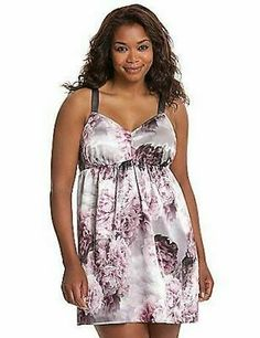 One Size Fits Most/_queen Womens Plus Size Shock Me Zipper Chemise Set
