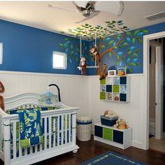 Die Traditionelle Farbgestaltung Eines Babyzimmers Für Mädchen Und Jungen  Entsprechend In Rosa Und B.