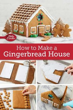 Ready to build your dream house? We'll show you how to pull it off with gingerbread, candy canes and more sweet features. Christmas Giveaways, Christmas Goodies, Christmas Baking, Spritz Cookie Recipe, Spritz Cookies, Make A Gingerbread House, Christmas Gingerbread, Peppermint Sticks, Peppermint Candy