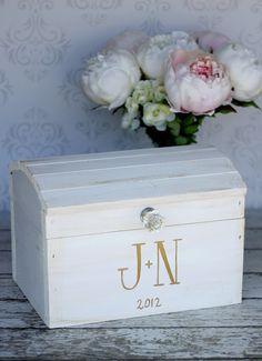 Wedding Card Box Vintage Shabby Chic Wedding Decor by braggingbags, $99.00