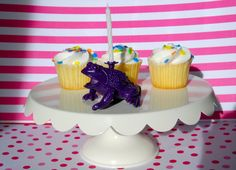 Purple Toad Birthday Candle Holder by TonysDinostore on Etsy