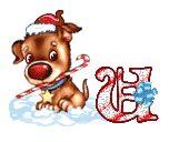 Alfabeto animado navideño de perrito con nariz roja. | Oh my Alfabetos!
