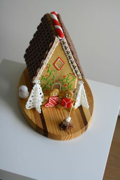 Gingerbread House (beautiful candy melt trees and trim)