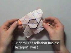 How to Origami a tessellation hexagon twist Origami Lamp, Origami And Kirigami, Origami Paper Art, Diy Origami, Origami Tutorial, Paper Crafts, Origami Boxes, Oragami, Diy Crafts
