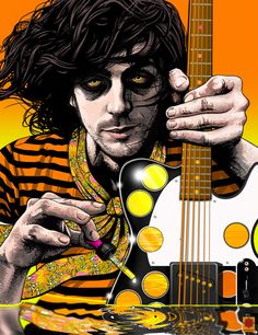 Syd Barrett <3 RIP - Really hope someday the band raises awareness for Schizophrenia. If you've ever dealt with it first hand or had no choice but to stand aside & watch the person you're closest to wither away beneath the confines of a damaged mind, knowing there's not shit you can do, major props to you. Maybe people will realize it's not exactly drug induced but may have triggered what anomalies already existed. Angers me that people ridicule without insight. It's  anything but a damn…