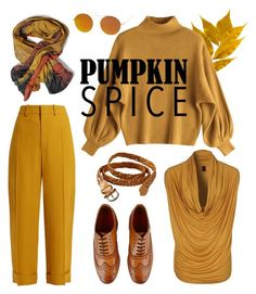 """pumpkin spice"" by zsmagony on Polyvore featuring Vero Moda, Chloé, Old Navy, Grenson and SW Global"
