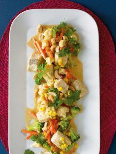 Fischcurry mit Gemüse