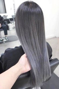 Dark Grey Ombre Hair greyhair ombre ❤ Grey ombre hair remains popular, which is not surprising as this color is super cool. If you wonder how to pull off grayish shades, see our ideas. Dark Grey Hair Color, Grey Ombre Hair, Best Ombre Hair, Grey White Hair, Black Hair, Hair A, New Hair, Caramel Ombre Hair, Blonde Tips