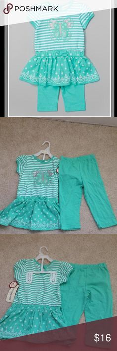 Butterfly Outfit in Aqua Green Brand New With Tag. Color is like 'Tiffany blue'! Comes From A Clean, Smoke and Pet Free Home. Matching Sets