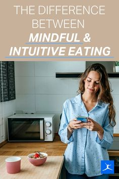 """Mindful eating is focused on how you eat in the moment, minimizing distractions and using your senses. Intuitive eating encourages people to eat according to hunger and fullness cues, stop dieting once and for all and let go of ideas about """"good"""" and """"bad"""" foods. We're talking about body acceptance, health at every size, mindful eating and intuitive eating. People are increasingly questioning fad diets and learning to adopt sustainable healthy habits instead. Nutrition And Dietetics, Nutrition Guide, Health And Nutrition, Health And Wellness, Low Sugar Diet, Clean Eating Challenge, Bad Food, Fad Diets, Big Meals"""