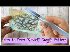 """How to draw """"Rundel"""" Tangle Pattern Lesson 15 - YouTube"""