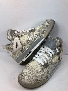 low priced a9ea4 d5b9d Nike Air Jordan 4 IV Retro Laser BG 705334-105 White Chrome Silver Size 6  Youth  fashion  clothing  shoes  accessories  kidsclothingshoesaccs   boysshoes ...