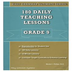 EASY GRAMMAR 180 LESSON PLANS Easy Grammar, Lesson Plans, Student, Teaching, How To Plan, Lesson Planning, Learning, College Students, Education
