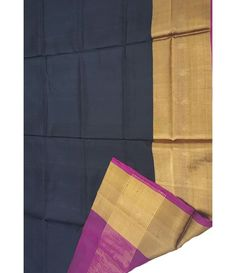 Black Handloom Upadda Silk Saree