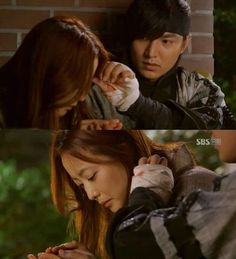 """Lee Min Ho Female doctor tearfully tried to warm frozen hands of the man she searches for so long. And he quietly stroking her hair, said: """"I will never give up their lives to be easy, so please do not cry""""."""