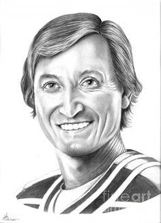 Wayne Gretzky Ninety Nine Drawing by: Murphy Elliott Plant City, Florida Wayne Gretzky, Hockey Players, Wall Art, City, Drawings, Vectors, Florida, Plant, Creative
