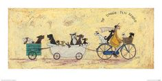 'The Doggie Taxi Service' by Sam Toft Art Prints East Urban Home Format: Wrapped Canvas, Size: H x W x D Movie Decor, Painting Prints, Art Prints, Canvas Wall Art, Canvas Prints, Spring Painting, Wooden Wall Art, Fabric Paper, Light Painting