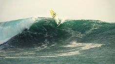 #windsurfing Riding 20 ft waves on Chile