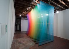 String Rainbows of Color, Color, Color: Ethereal Thread Art Installations | Jeannie Huang