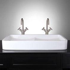 double trough sink
