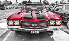 Classic Muscle Car Chevelle SS Front
