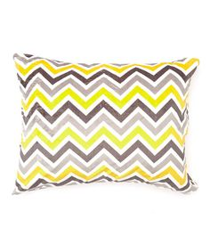 Take a look at this Sunshine & Gray Zigzag Minky Pillowcase by Bebe Bella Designs on #zulily today!