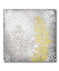 Take a look at this Gray Flower I Canvas Wall Art by COURTSIDE MARKET on #zulily today! $24.99